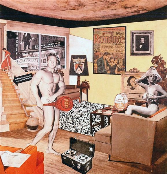 Richard Hamilton, Just what is it that makes today's homes so different, so appealing? (1956)