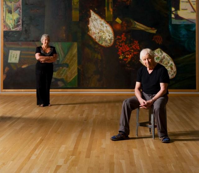 Emilia and Ilya Kabakov in the studio, 2013. Photo: Jacques De Melo